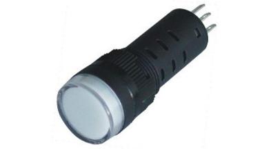 Indikaator 16mm, pun/roh, 230VAC