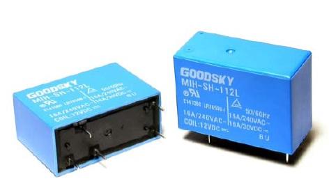 Relay 12VDC 2C 240VAC/2x5A