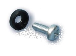Screw M5x12 + plastic washer, 50pcs