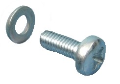 Screw M6x12 + Zn washer (50pcs)