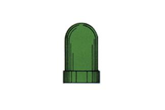 ZSILICT134G SiliconCap T1 3/4 Green