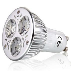 Ledlamp GU10 12VDC 6W 3000K