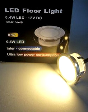 Led 12VDC 0,4W warm white 3000K