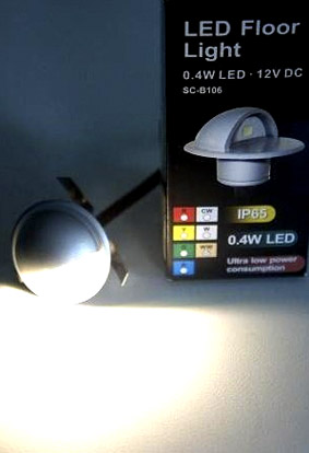 Led steplight 12VDC 0,4W warm white