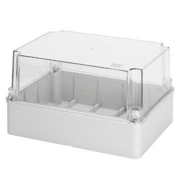 transparent lid IP56, 150x110x140