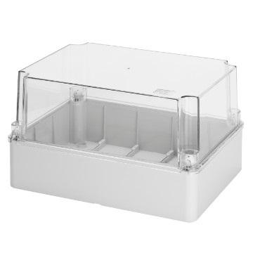 transparent lid IP56 240x190x160