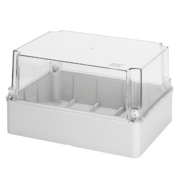 transparent lid IP56 380x300x180