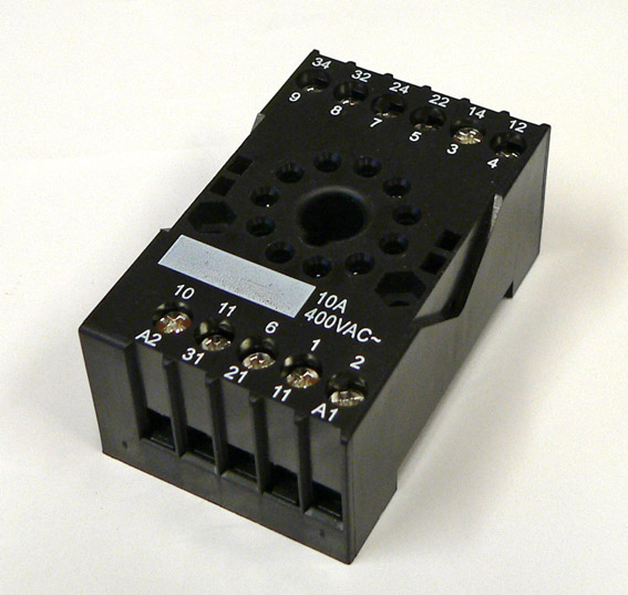 Relay Socket for HF10FH DIN-rail