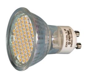 Ledlamp GU10 dimm. 230V 24xSMD5050