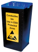 ESD prügikast 100L, 400x400x780mm