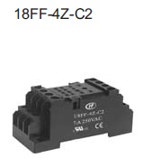Relay socket for HF18FH DIN-rail