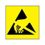 ESD warning sticker 12,5mm square