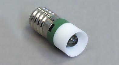 Led E-10 12VDC green