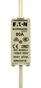 NH FUSE 80A 500V GG/GL SIZE 01