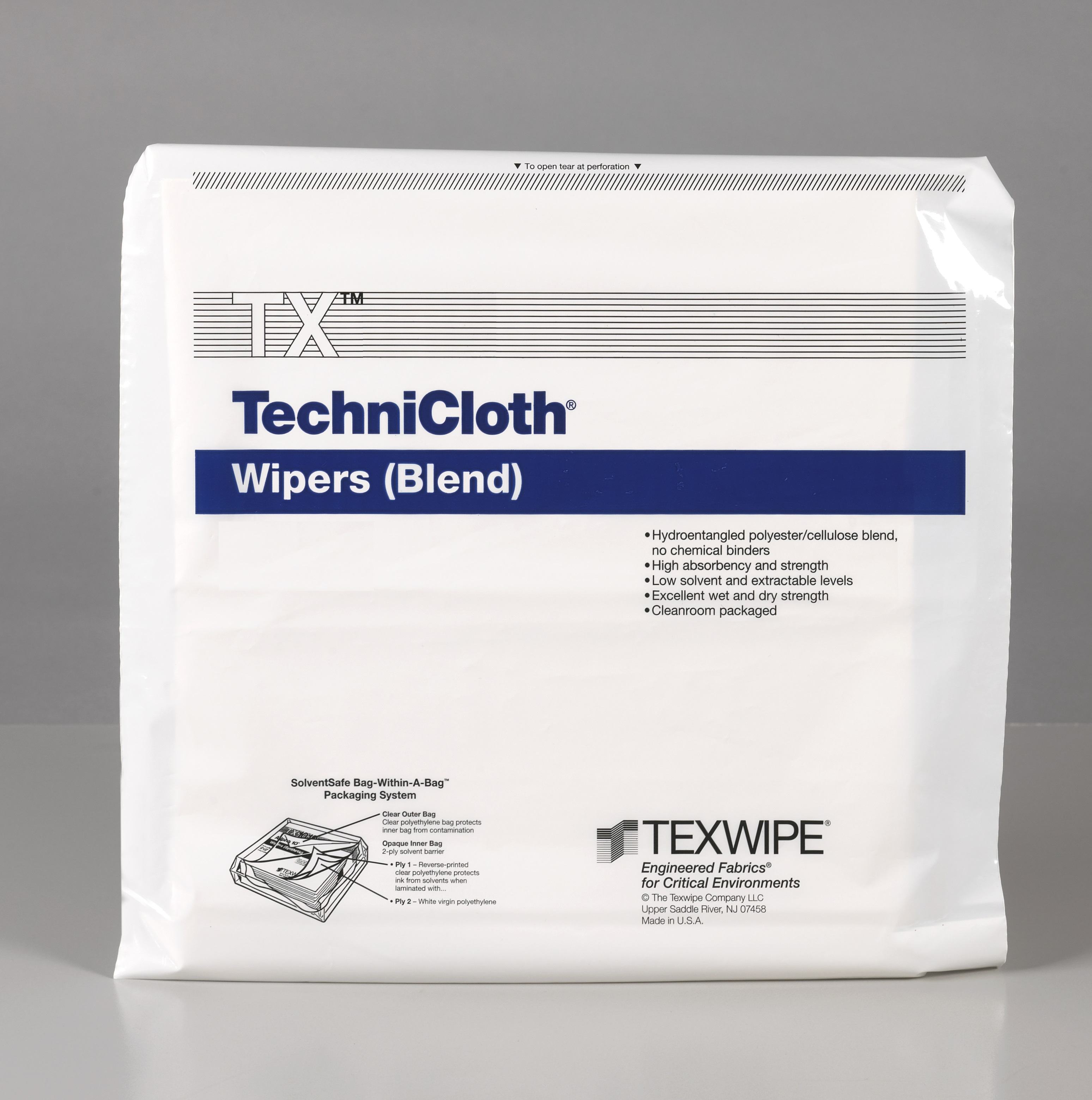 "TechniCloth 15x27"", 150pcs/bag"