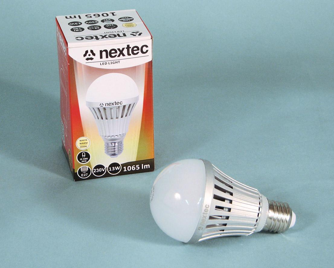 Ledlamp E27 230V 13W 3000K 1065lm