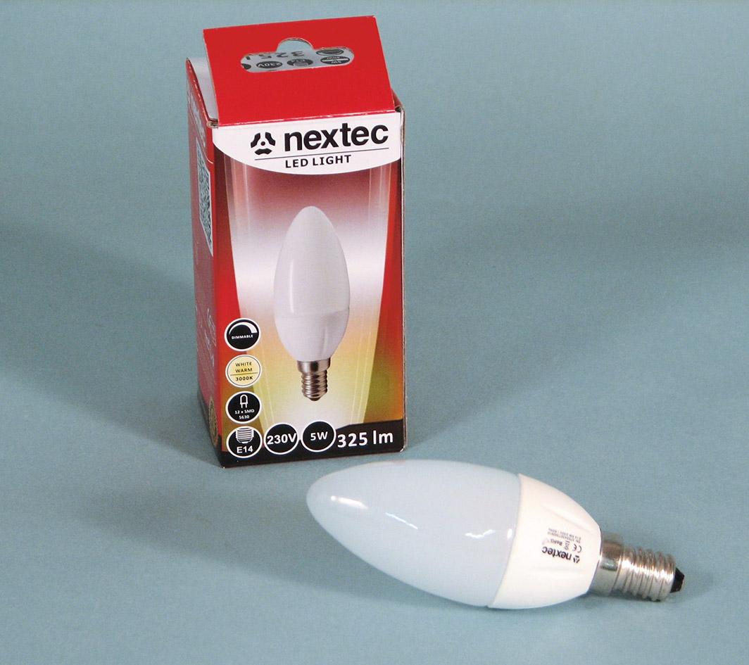 Ledlamp E14 230V 5W 3000K 325lm