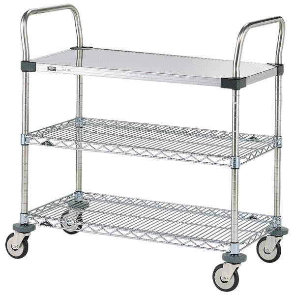 Steel Utility Cart, 1solid+2wire