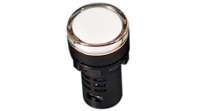 Indikaator 16mm, valge, 230VAC