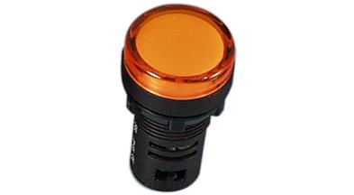Indikaator 16mm, kollane, 230VAC