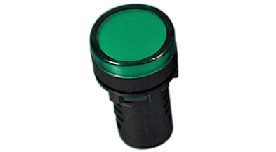 Indikaator 16mm, roheline, 230VAC