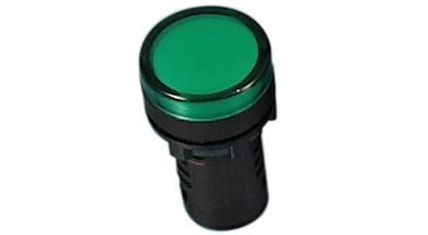 Indikaator 16 mm, roheline, 24 VDC