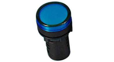 Indikaator 16 mm, sinine, 24 VDC