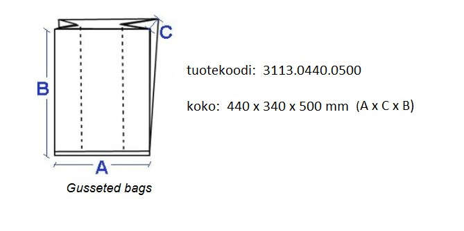 Gusseted bag for tote boxes 400x300