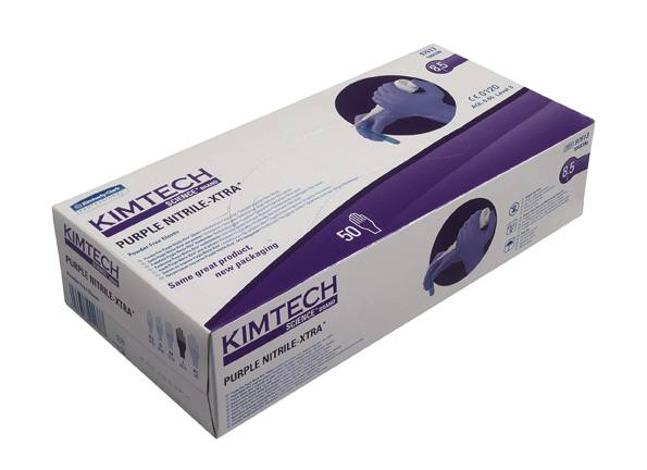 Purple Nitrile XTRA, M, 10x50pcs