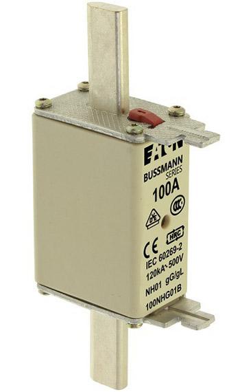NH FUSE 100A 500V GG/GL SIZE 01