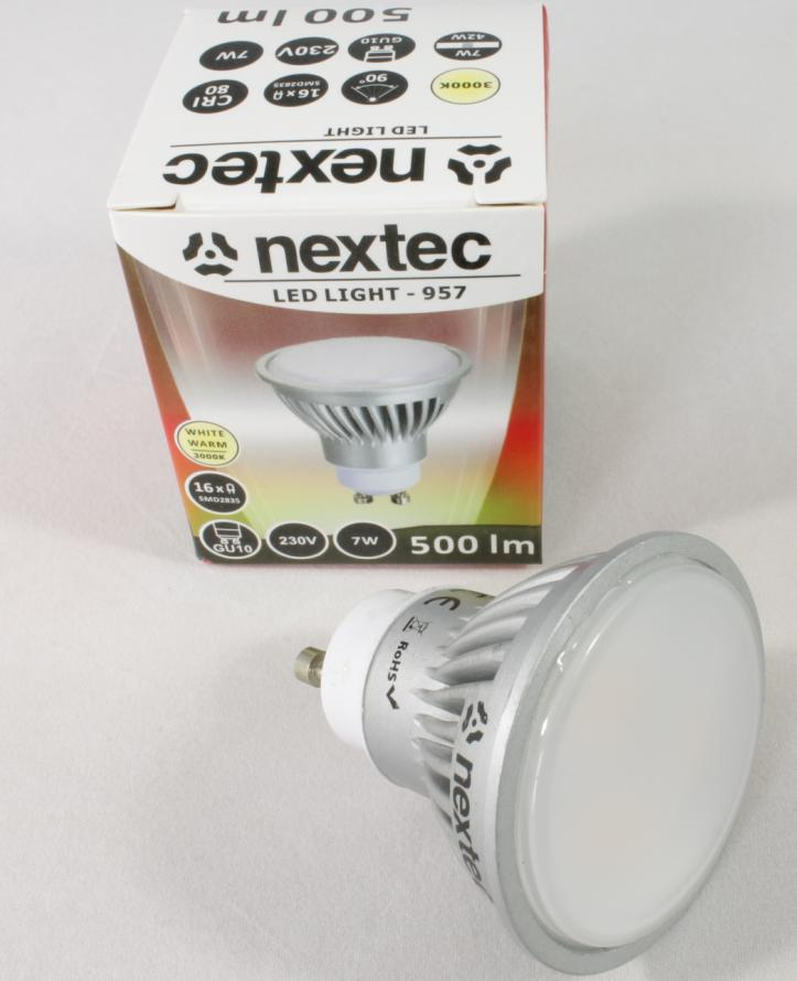 Ledlamp GU10 230V 7W 500lm 3000K