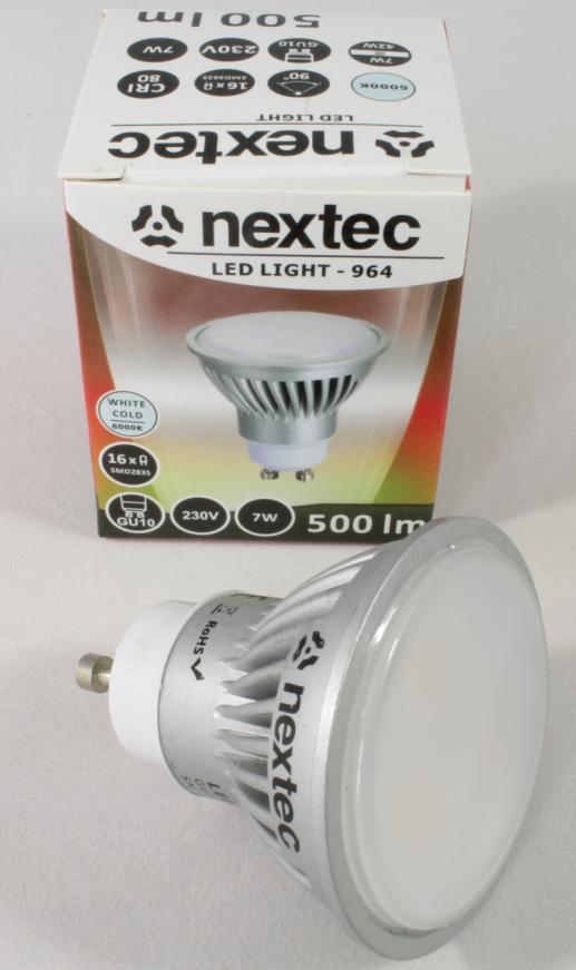 Ledlamp GU10 230V 7W 500lm 6000K
