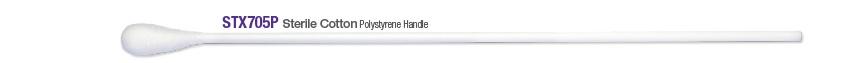 Sterile Cotton Swab, poly handle