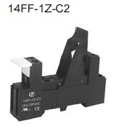 Relay socket for 12A relay DIN-rail