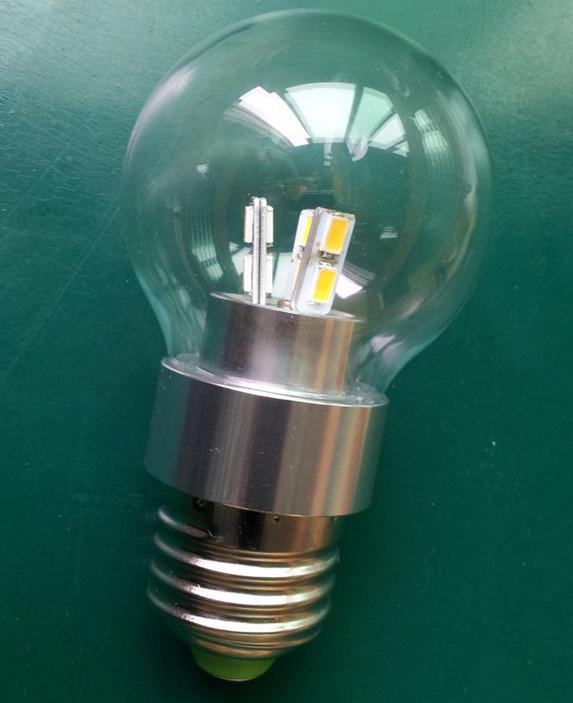 Ledlamppu E27 12/24VDC 3W 50x75mm