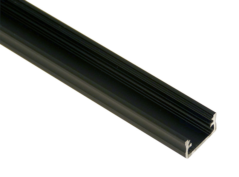 Led profile, aluminium black