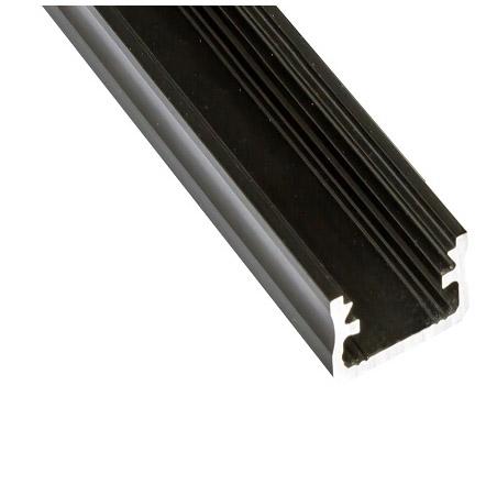 Led profile, aluminium black
