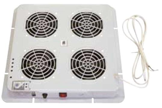 Fan unit, 4 fans + thermostat