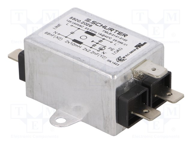 1-astmeline filter 1A/250V
