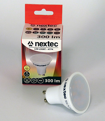 Ledlamp GU10 230V 4W 300lm ECO