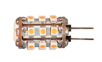 Ledlamp G4 12VDC 100lm 1,5W warm w