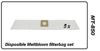 Muntz 888 filterbag set 5 pcs