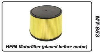 Muntz 888 motorfilter, HEPA