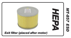 Muntz 888 Air Exit Filter, HEPA