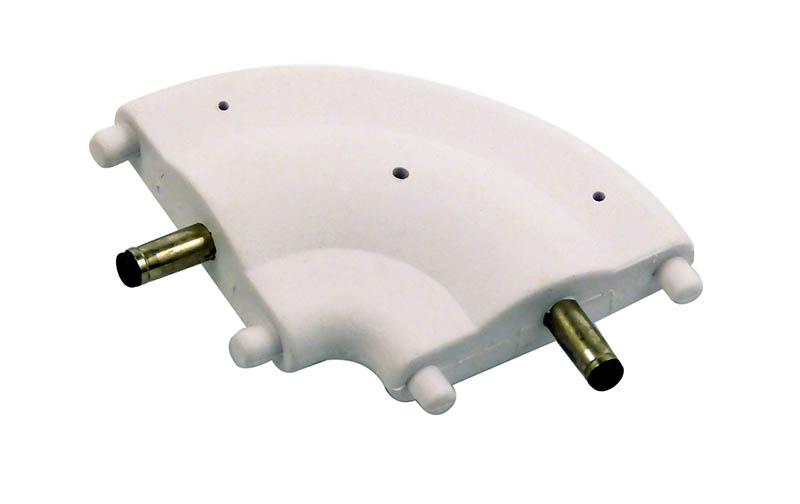 90 deg corner 24VDC white