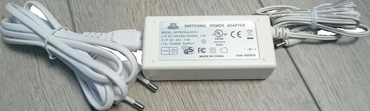 Powersupply 24VDC 36W white