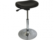 Sit Stand vinyl chair, black