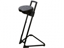 PU Sit Stand chair, black
