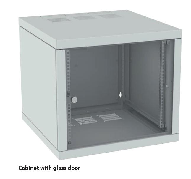"""19""""wall cabinet 12Ux600, glass door"""