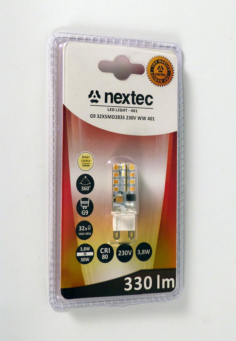 Ledlamp G9 230V 330lm 3,8W 3000K